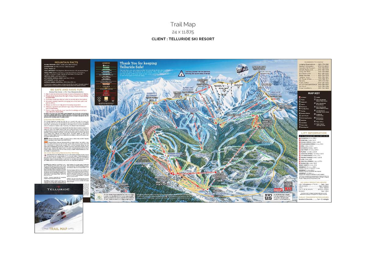 Trail Map 24 x 11.875 CLIENT   TELLURIDE SKI RESORT